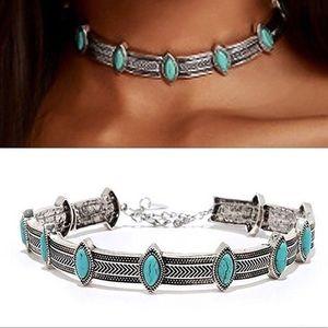 Jewelry - 🌟✨Retro Turquoise Chocker Bohemia Necklace
